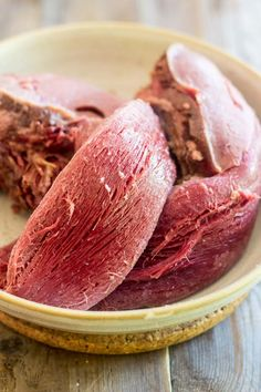 Pickled Beef Tongue is kind of like a cross between smoked ham and corned beef. Melt-in-your-mouth tender and deliciously tasty. Pickled Beef Tongue Recipe, Cow Tongue Recipe, Jewish Recipes, Mexican Food Recipes, Beef Recipes, Cooking Recipes, Recipies, Charcuterie, Beef Heart Recipe