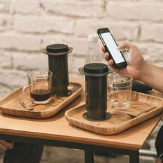 Dream Cafe Coffee Set Dual AeroPress Coffee Makers! Great Cafe Option! Shop Aero @alternativebrewing Link in Bio  1-4 Day Shipping | by @cafelito
