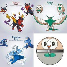 Possibili pokemon sun and moon's starter evolution