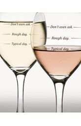 DCI 'Rough Day' Wine Glasses (Set of Two)