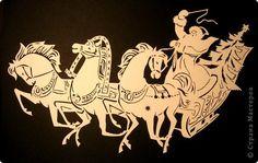 Картина панно рисунок Новый год Вырезание Тройка Бумага фото 9