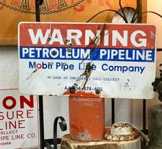 "Mobil Petroleum Fence Post Sign   15"" Wide x 4"" Deep x 12.5"" High   $68  Vintage Affection Dealer #1680  White Elephant Antiques 1026 N. Riverfront Blvd., Dallas, TX 75207"