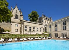 Chateau de Mirambeau Mirambeau, France Hotels Trip Ideas tree building property château Pool palace mansion Villa swimming pool stately home swimming Resort