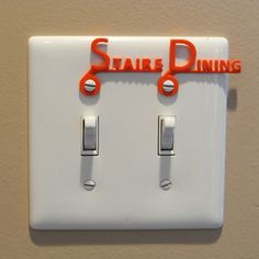 Tag for switch plate #2 3D  #3Dprinting #3Dprint [more pics on Cults website]