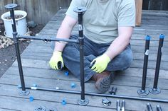 I think our most incredible backyard DIY project was making our patio table....and it was easy! As I said before, we found the table top at...