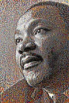 """MLK, as depicted by 5,000 racists who claim not to be racist. via the artist @alittleracist  """"And now for something completely different: I decided to try and grab the profile pictures of 5,000 people who tweeted they were """"Not Racist But…"""", but were since proven to be just a teeeensy-weensy bit more racist than they liked to admit."""" \\ Awesome - commentary and a record - released under Creative Commons CC-BY-SA 2.0"""