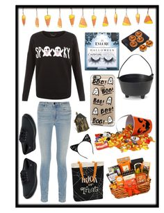 """""""#233 happy Halloween!"""" by xjet1998x ❤ liked on Polyvore featuring eylure, Casetify, Alexander Wang, Keds, Design Imports, John Lewis and Department 56"""