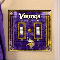 NFL Minnesota Vikings Embossed Trifold Leather Wallet by Rico ... 267f77f77