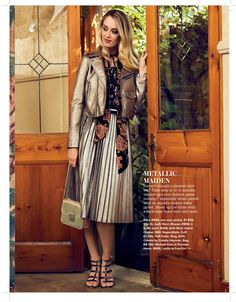 Gorgeous jacket & skirt featured in magazine! Thanks for the feature! House And Home Magazine, Shirt Dress, Woman, Skirts, Jackets, Dresses, Fashion, Down Jackets, Skirt