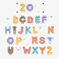 Logo Design Love, Logo Design Inspiration, Kindergarten Logo, Bullet Journal Hand Lettering, Alfabeto Animal, Doodle Frames, Typography Alphabet, Alphabet Design, Kids Logo