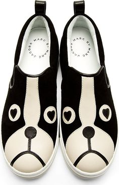 Marc by Marc Jacobs Black Friends Of Mine Shorty Slip-On Shoes