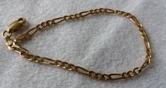 """Solid 14k gold #figaro #bracelet 6.6"""" and 2.9 #grams,  View more on the LINK: http://www.zeppy.io/product/gb/2/371649303310/"""