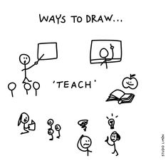 Teach - Ways to Draw Doodle Sketch, Doodle Drawings, Easy Drawings, Doodle Art, Visual Note Taking, Cute Journals, Sketch Notes, Bullet Journal Inspiration, Visual Communication