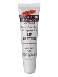 Palmer's Cocoa Butter Formula Dark Chocolate & Peppermint Lip Butter Great as just a gloss over colour too Tastes nice Cheap as chips Result! Beauty Make Up, Beauty Care, Beauty Skin, Lip Care, Body Care, Barrier Cream, Whipped Body Butter, Lip Moisturizer, Tips Belleza