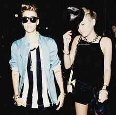Justin Bieber and Miley Cyrus manip