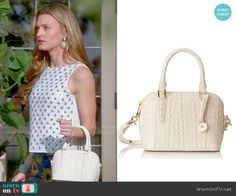 Paige's white mini bag on Royal Pains.  Outfit Details: http://wornontv.net/49861/ #RoyalPains