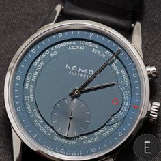 Recently, Angus Davies wore the NOMOS Glashuette Zurich Worldtimer true blue for a week and was able to appraise the merits of this watch, equipped with a blue dial and the brand's new swing system.  http://www.escapementmagazine.com/articles/nomos-glashuette-zurich-worldtimer-true-blue---hands-on-watch-review.html