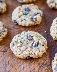 Thick and Chewy Oatmeal Raisin Cookies /  averiecooks.com