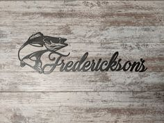 Personalized Metal Signs, Custom Metal Signs, Name Signs, Dog Signs, Ice Fishing House, Fishing Signs, Fisherman Gifts, Office Den, Boat Names