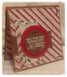 Handmade Christmas card by Clarie Dale using the Merry & Bright set from Verve.  #vervestamps