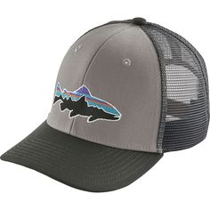 fd52dbdea83 Patagonia - Trucker Hat - Boys  - Fitz Roy Trout Drifter Grey Trout