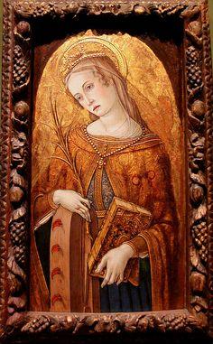 Vittore Crivelli (1444-1501) Saint Catherine of Alexandria, Ashmolean Museum, Oxford