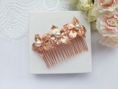 Rose Gold Hair, Hair Comb Wedding, Wedding Hairstyles, Brooch, Stud Earrings, Hair Combs, Trending Outfits, Unique Jewelry, Handmade Gifts