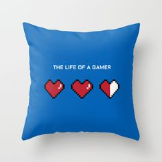 """""""The Life of a Gamer"""" Throw Pillow"""