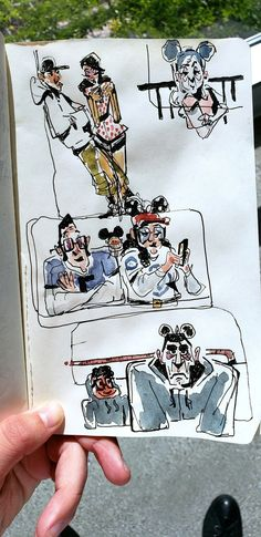 Finished Disneyland sketches for a warm up today