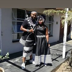 There's definitely something elegant about black #umbhaco � African Wedding Theme, African Wedding Attire, African Weddings, African Attire, African Fashion Dresses, African Dress, Zulu Traditional Attire, South African Traditional Dresses, Traditional Outfits