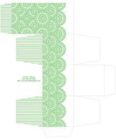 Don't Eat the Paste: Circle pattern 2x2 printable boxes in 5 colors