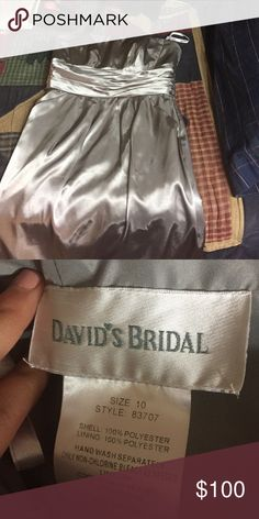 Gray dress Grey dress worn once. Worn it for a 16th birthday party David's Bridal Dresses Strapless