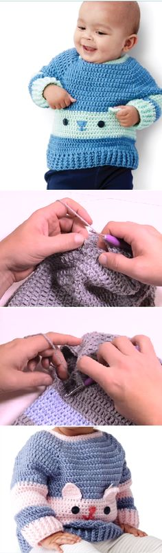 Learn to Crochet the Character Sweaters, Kitty and Bear