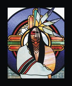 native american art,indian art,native american stained glass,spiritual art,religious art  http://www.tdstainedglass.com