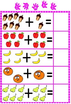 Candy Kindergarten Special Education Early Childhood Cut and Paste Fine Motor Math Addition Worksheets, Free Kindergarten Worksheets, Preschool Printables, Math Activities, Preschool Activities, Kindergarten Special Education, 1st Grade Math, Math For Kids, Fine Motor