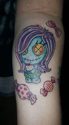 Tattooed By Big J Tattoos.  Mount Vernon In. Voodoo Doll Tattoo