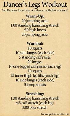 Workout for toned but not overly muscly legs