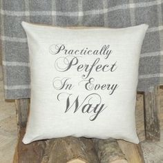 ' Practically Perfect ' Cushion - cushions