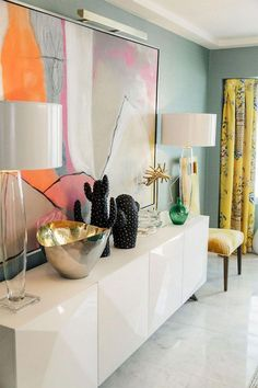 Dreamy color ideas for the best interior walls for 2019 - The color ideas for the interior walls . Interior Wall Colors, Interior Walls, Best Interior, Home Interior Design, Interior Decorating, Luxury Interior, Palm Springs Interior Design, Retail Interior, Colorful Interior Design