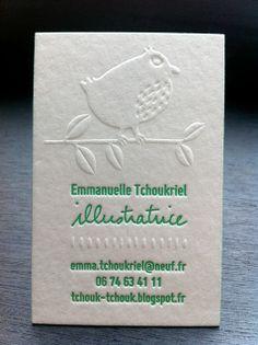 cartes de visite cartons gaufrage