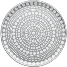 Iittala Kastehelmi Tray, Gray, Crafted of birch veneer, this round tray shows off a concentric circle motif and neutral gray hue. Modern Serving Trays, Drinks Tray, Round Tray, Kitchen Cupboards, Kitchen Dining, Dining Room, Tray Decor, Marimekko, Modern Table