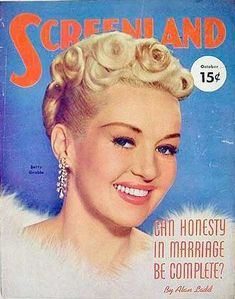 "Betty Grable on the front cover of ""Screenland"" magazine, USA, October 1951."