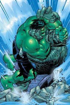 #Hulk #Fan #Art. (Incredible Hulk: Past Perfect) By: John Romita. ÅWESOMENESS!!!™ ÅÅÅ+