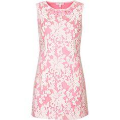**Pink Jacquard Print Jewel Dress by Rare