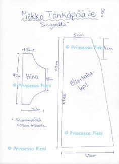 Prinsessa Pieni seikkailee käsityömaailmassa: Mekko Tähkäpäälle + Kaava