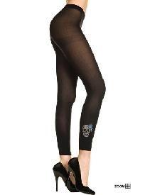 Rockabilly Fashion Ensemble...WOW...Skull Embellish Mini Dress/Skull Leggings ~HOT~