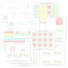 Flower Garden Easter Printable Party Collection