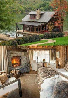 45 small log cabin homes ideas 33 Log Cabin Living, Small Log Cabin, Log Cabin Homes, Log Cabins, Mountain Cabins, Rustic Cabins, Cozy Cabin, Cabins And Cottages, Style At Home