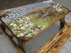 painted picnic table - Google Search