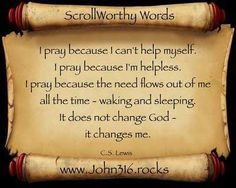 Why Do You Pray?  HT  http://www.john316.rocks    #renewUS #TCOT  #PJNET #CCOT